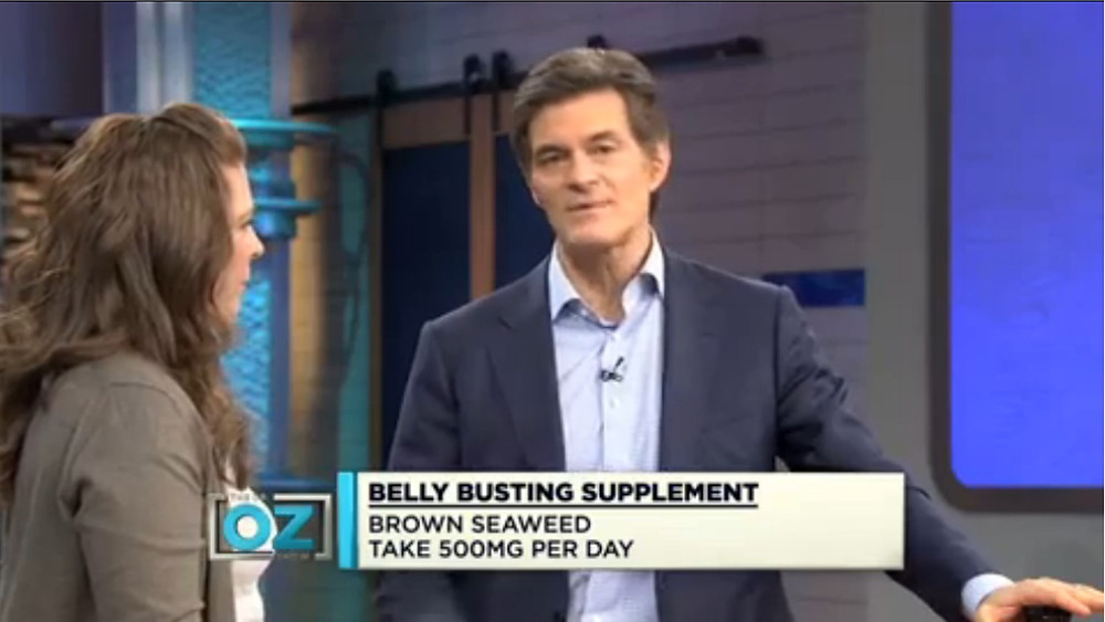 Dr Oz speaking about the benefits of seaweed