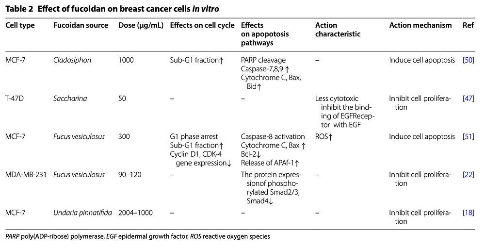 fucoidan and breast cancer cells