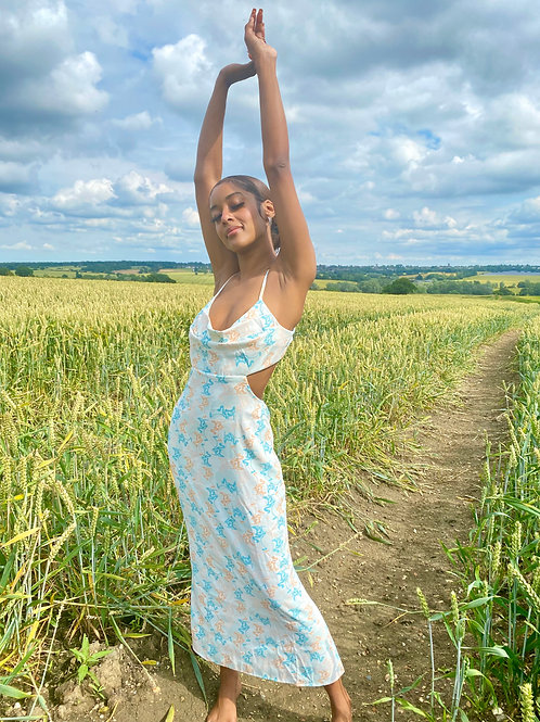 Zahra Open Back Midi Dress