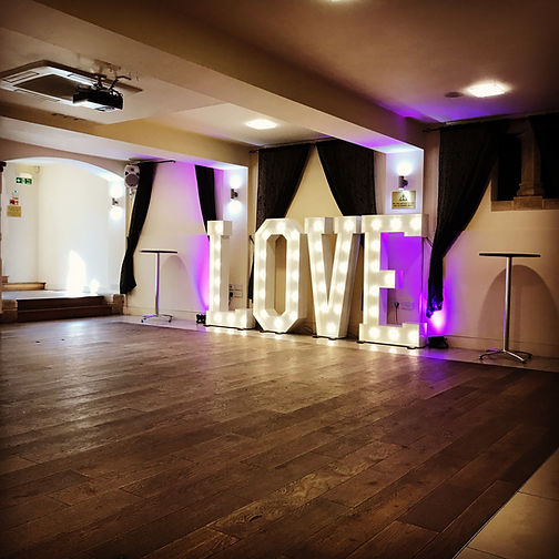 Giant love letter hire Dorset