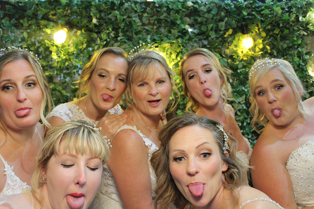Photo Booth fun with the bride in Somerset