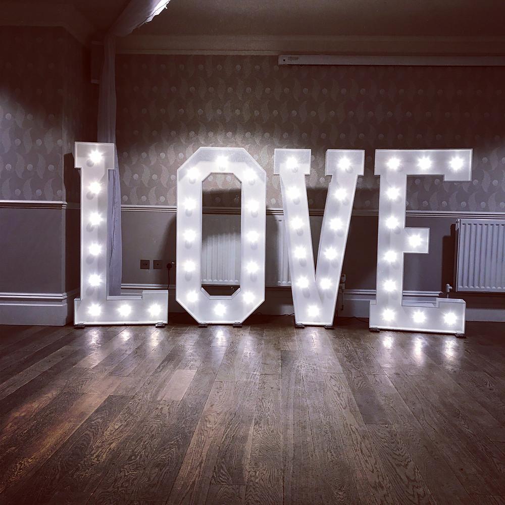 giant love letters Dorset