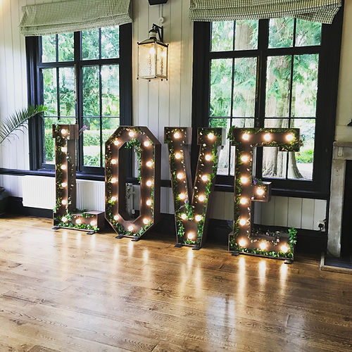 Giant Rustic Love Letters Dorset