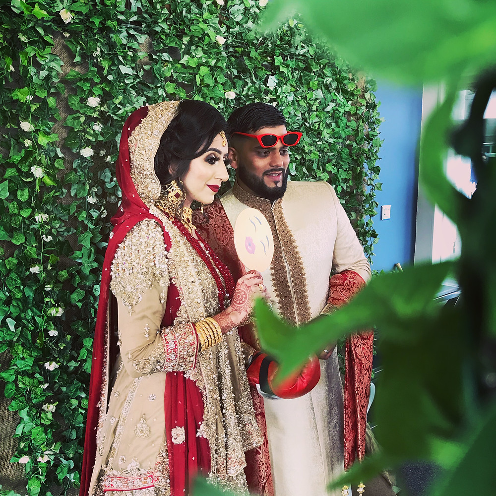 Pakistani wedding photo booth