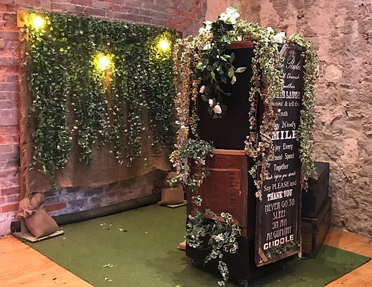 rustic photo booth hire dorset