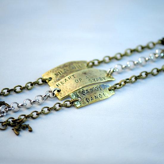 Hammered Stamped Bracelets