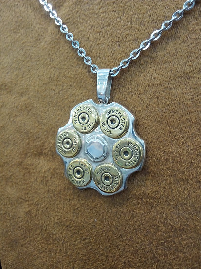 Six Shooter Sterling Silver Pendant