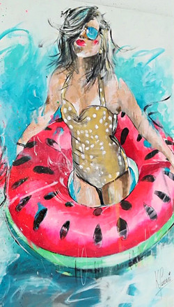 Summertime in watermelon