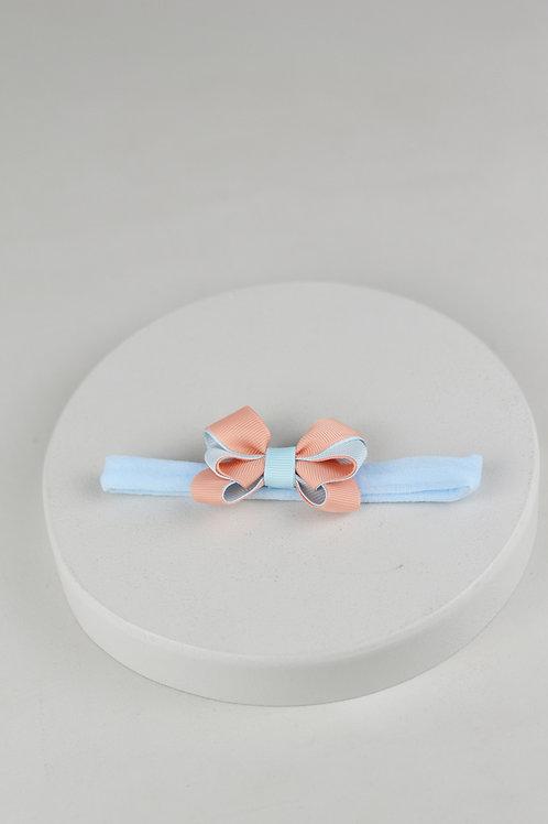 Laço P Azul bebê e Coral
