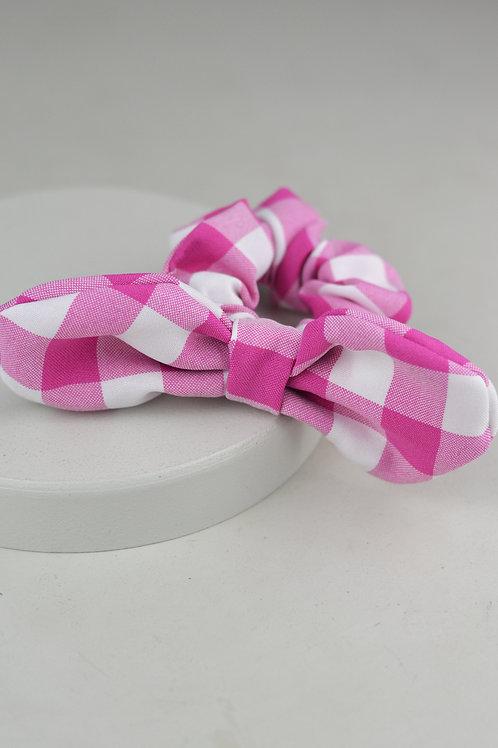 Scrunchie Laço Vichy Rosa