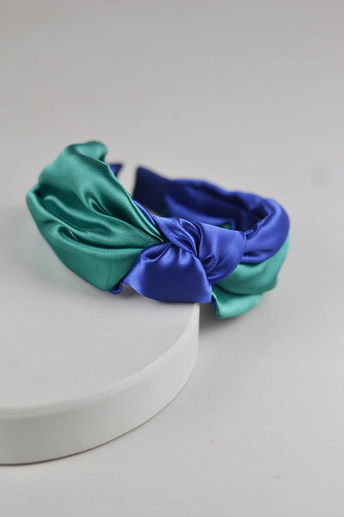 Tiara Nó Cetim Color Block