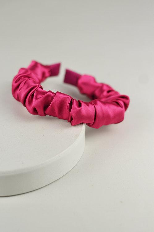 Tiara Scrunchie Cetim Pink