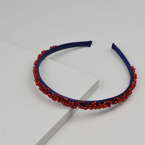 Tiara Bordada Navy