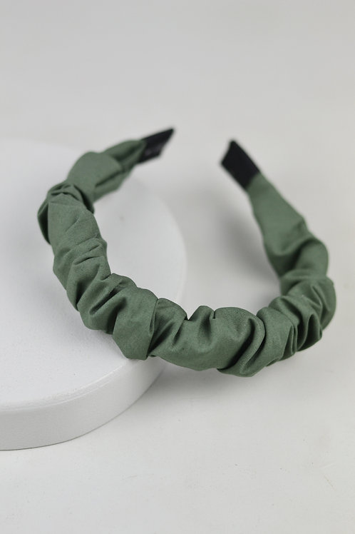 Tiara Scrunchie Verde Militar