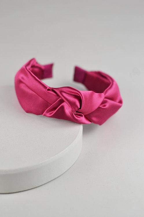 Tiara Nó Cetim Pink
