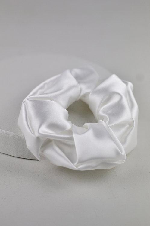 Scrunchie Cetim Branco