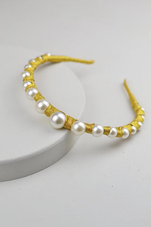 Tiara Luxo Dourada