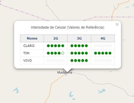 Dica para cross country - Site mostra intensidade de sinal das operadoras em todo o Brasil.