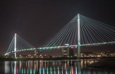 Bob Kerrey Pedestrian Bridge, between Om