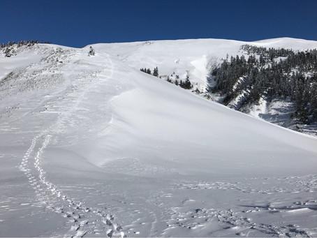 近所の雪山名山巻機山