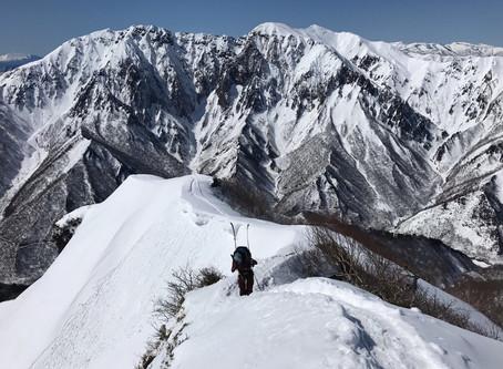 白毛門&朝日岳Ski Mountaneering
