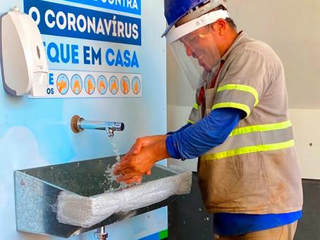 Sabesp instala mais 8 lavatórios na zona sul da capital para combater coronavírus