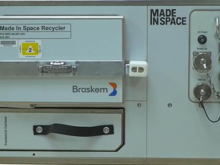 Braskem e Made In Space enviam recicladora de plástico à Estação Espacial Internacional
