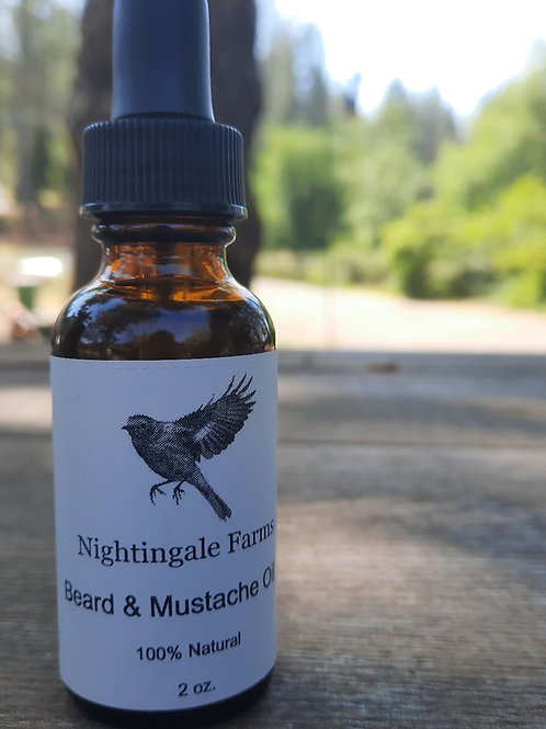 All Natural Beard and Mustache Oil