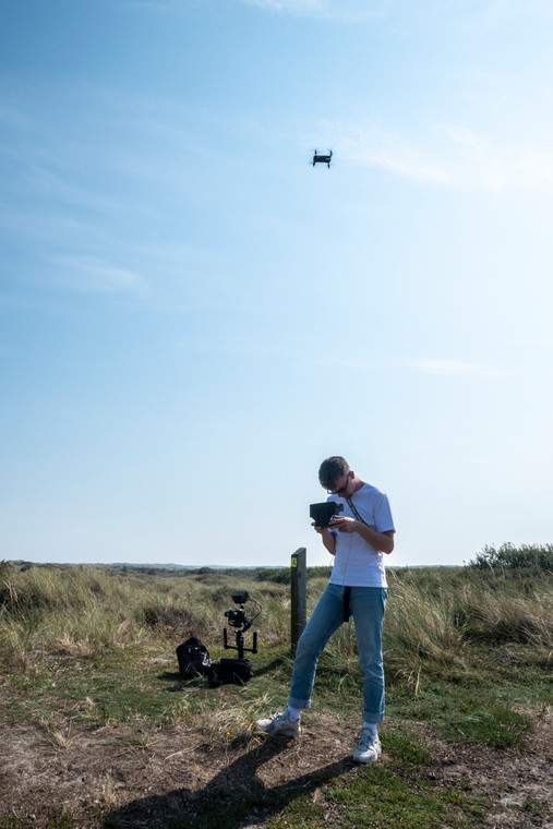 Behind the scenes Drone opname