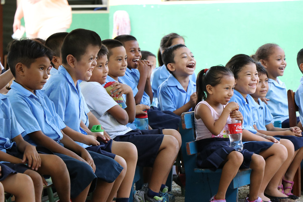 Children During School Ministry - Belize.