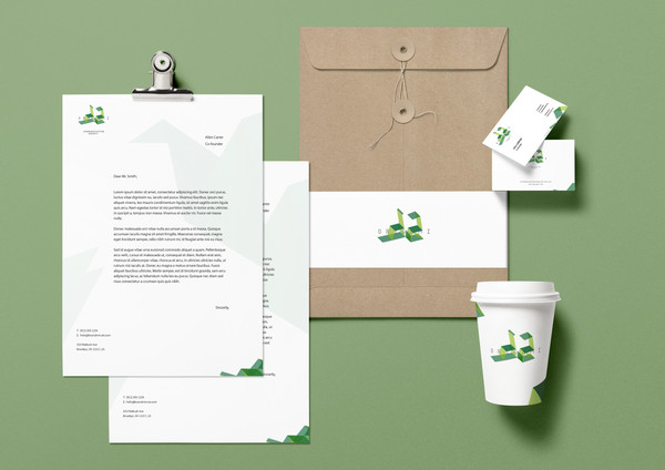 2-origami Branding Identity MockUp Vol.1