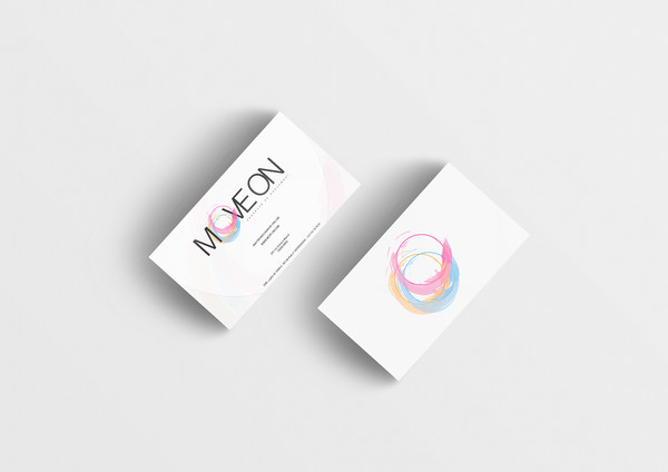 4-move on Business Card Mockup 15 (Free