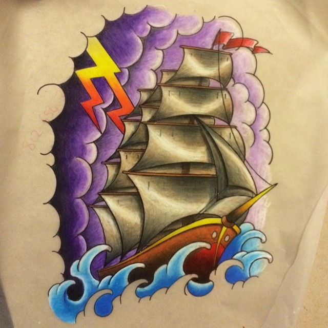 Instagram - #pirate #ship #tattoo #tattoos #ink #drawing