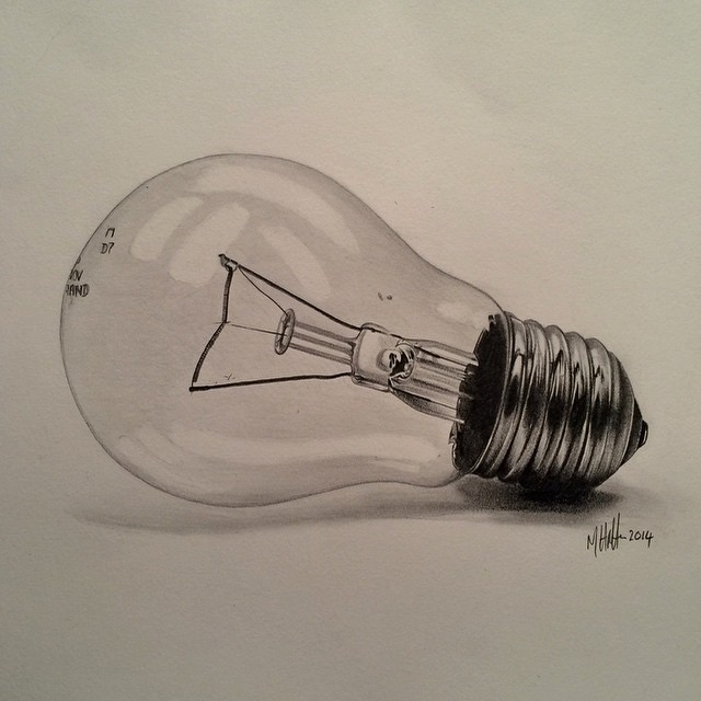 Instagram - #lightbulb #pencil #drawing #sketch #art