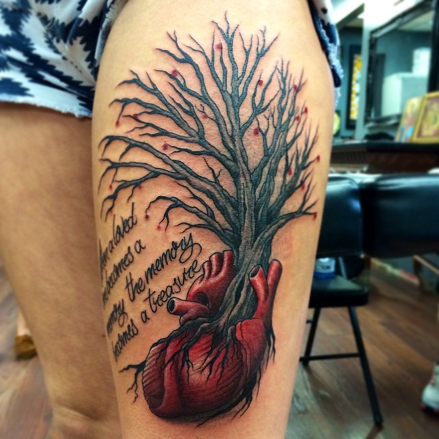 Instagram - #tree #heart #tattoo #tattoos #ink #inked