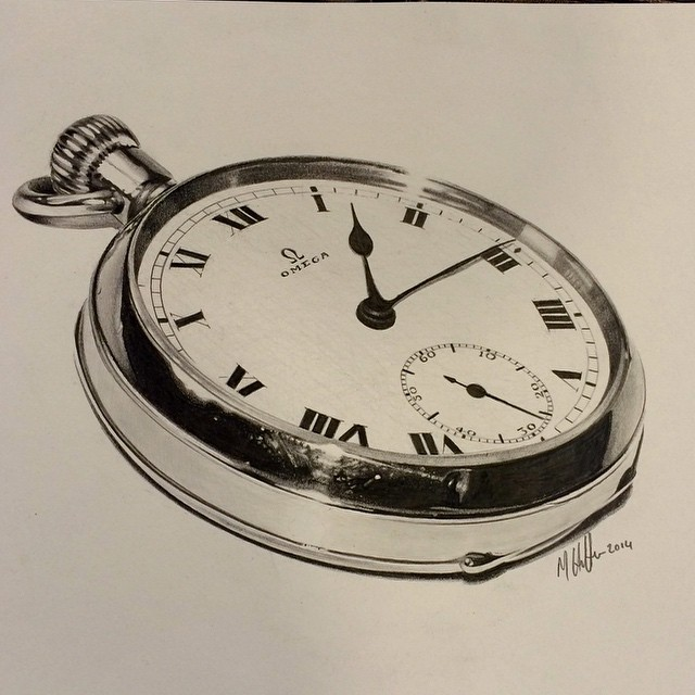 Instagram - #pencil #drawing #sketch #art #pocktwatch #pocket #watch #time