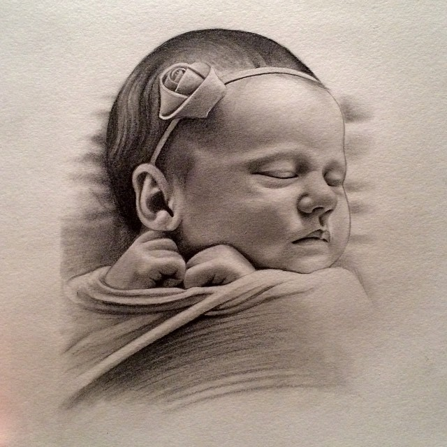 Instagram - #pencil #sketch #drawing #art #portrait #baby