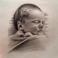 Instagram - #pencil #sketch #drawing #art #portrait #baby