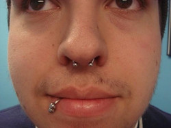 Facebook - The amazing Andrew and his beautiful Septum Piercing!
