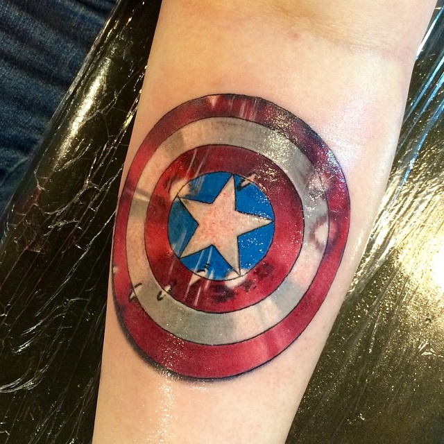 Instagram - #captain #america #shield #tattoo #tattoos #ink