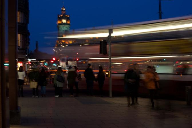 Bus Stop, Edinburgh, Scotland