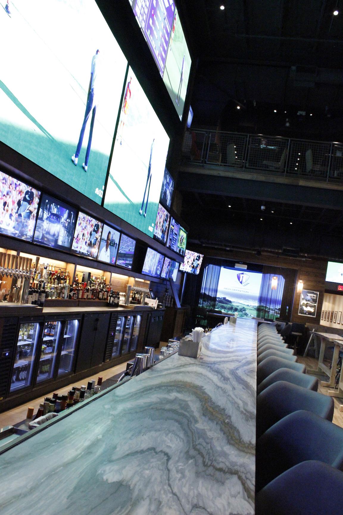 Bobby V's 80 foot Onyx Bar