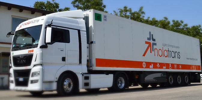 nolatrans logistic transport system nola trasporti refrigerati internazionali italia europa napoli company profile automezzi man camion office logo