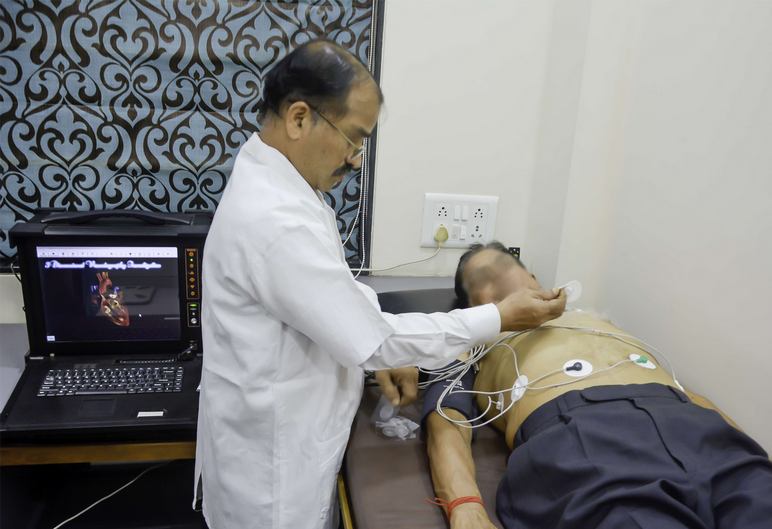Preparing the patient for 3DCCG Cardiac Cartography