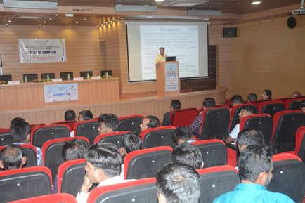 Mr. Sumant Mathure giving a lecture in ACRESERV