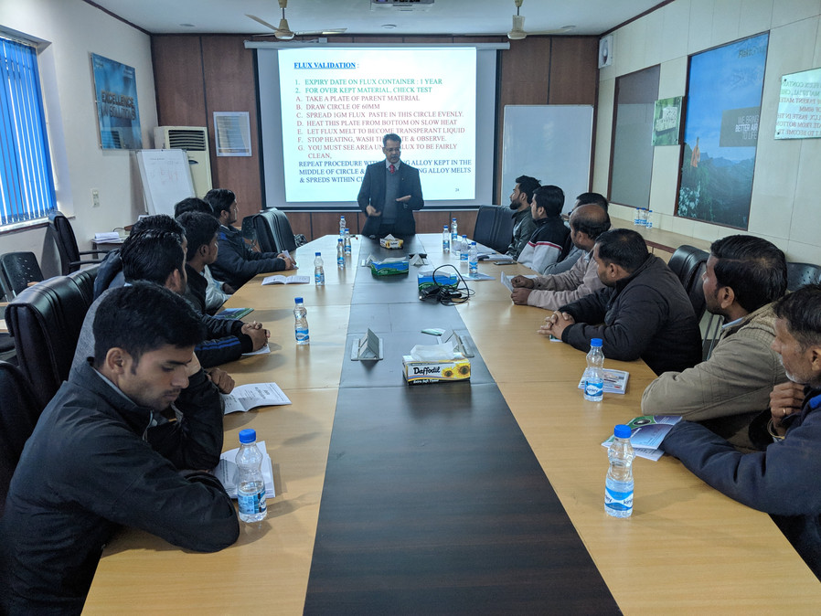 Mr. Sumant Mathure conducting a seminar for managers