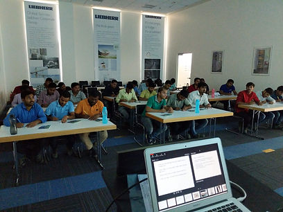 A brazing consultation theory session taught by Mr. Sumant Mathure for Liebherr