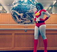 League of Enchantment Board member Samantha as Captain Planet