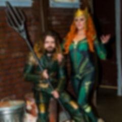 Founding members Brittney and Dominik as Aquaman and Mera