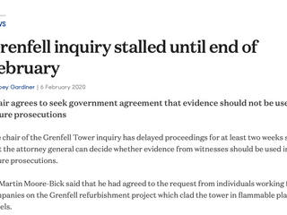 Grenfell Inquiry stalled until end of February